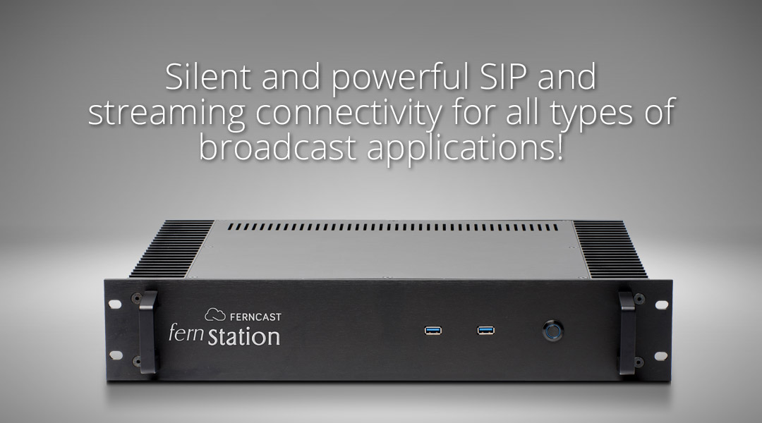 Silent and powerful SIP and streaming connectivity for all types of broadcast applications!