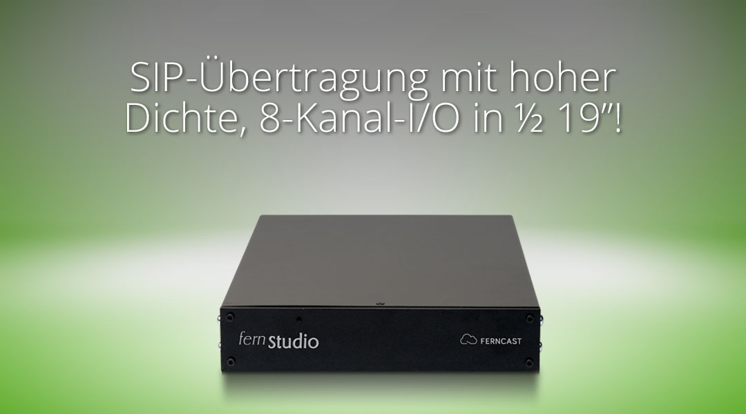 SIP connectivity in high density with 8 channel O/I in half 19!